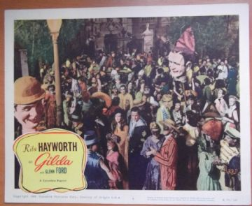 Gilda, Original Lobby Card, Rita Hayworth, Glenn Ford, George Macready, r59